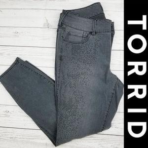 Torrid Premium Rhinestone Studded Jegging 16R